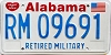 1991 Alabama Retired Military graphic # 9691