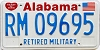 1991 Alabama Retired Military graphic # 9695