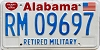 1991 Alabama Retired Military graphic # 9697