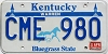 1991 KENTUCKY Churchill Downs graphic license plate # CME-980