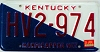 1991 KENTUCKY Handicapped VET license plate # HV2-974