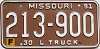 1991 Missouri Farm Truck # 213-900