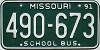 1991 Missouri School Bus # 490-673