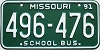 1991 Missouri School Bus # 496-476