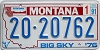 1991 Montana Bicentennial graphic # 20-20762, Valley County