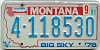 1991 Montana Bicentennial graphic # 4-118530, Missoula County