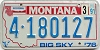 1991 Montana Bicentennial graphic # 4-180127, Missoula County