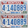 1991 Montana Bicentennial graphic pair # 4-140889, Missoula County