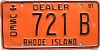 1991 Rhode Island Used Dealer # 721B