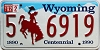 1992 Wyoming Centennial #6919, Albany County