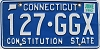 1992 CONNECTICUT Constitution State license plate # 127-GGX