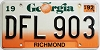 1992 Georgia Peach graphic # DFL-903