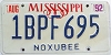1992 Mississippi graphic # 1BPF695