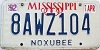 1992 Mississippi graphic # 8AWZ104