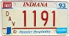 1993 Indiana Disabled Veteran graphic # 1191