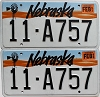 1993 Nebraska pair # A757, Otoe County