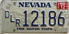 1993 NEVADA DEALER license plate # 12186