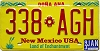 1993 NEW MEXICO license plate # 338-AGH