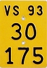 1993 SWITZERLAND motorcycle license plate # 30-175