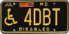 1994 Missouri Disabled Vanity #4DBT