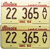 1994 Illinois Antique Vehicle pair # 22 365