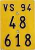 1994 SWITZERLAND motorcycle license plate # 48-618