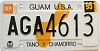 1995 GUAM graphic license plate # AGA4613