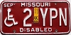 1995 Missouri Disabled # 2YPN