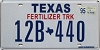 1995 TEXAS FERTILIZER TRUCK license plate # 12B-440