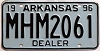 1996 Arkansas Dealer # MHM2061