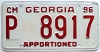 1996 Georgia Apportioned # P  8917