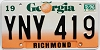 1996 Georgia Peach graphic # YNY-419