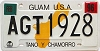 1996 GUAM graphic license plate # AGT-1928