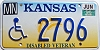 1996 Kansas Disabled Veteran graphic # 2796, Marion County