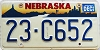 1996 Nebraska graphic # C652, Boone County