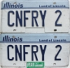 1997 Illinois Vanity pair # CNFRY 2