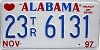 1997 Alabama Trailer # 23TR6131