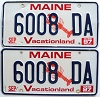 1997 MAINE Lobster graphic license plates pair # 6008 DA