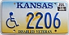 1998 Kansas Disabled Veteran graphic # 2206