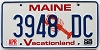 1998 MAINE Lobster graphic license plate # 3948 DC