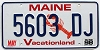 1998 MAINE Lobster graphic license plate # 5603 DJ