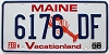 1998 MAINE Lobster graphic license plate # 6176 DF