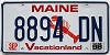 1998 MAINE Lobster graphic license plate # 8894 DN