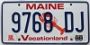 1998 MAINE Lobster graphic license plate # 9768 DJ
