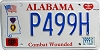 1999 Alabama Purple Heart Veteran graphic # P499H