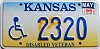 1999 Kansas Disabled Veteran graphic # 2320