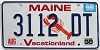 1999 MAINE Lobster graphic license plate # 3112 DT