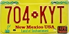 1999 NEW MEXICO license plate # 704-KYT