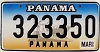 1999 PANAMA Ship graphic license plate # 323350