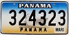 1999 PANAMA Ship graphic license plate # 324323